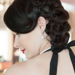 Side Profile Vintage Updo Pincurls